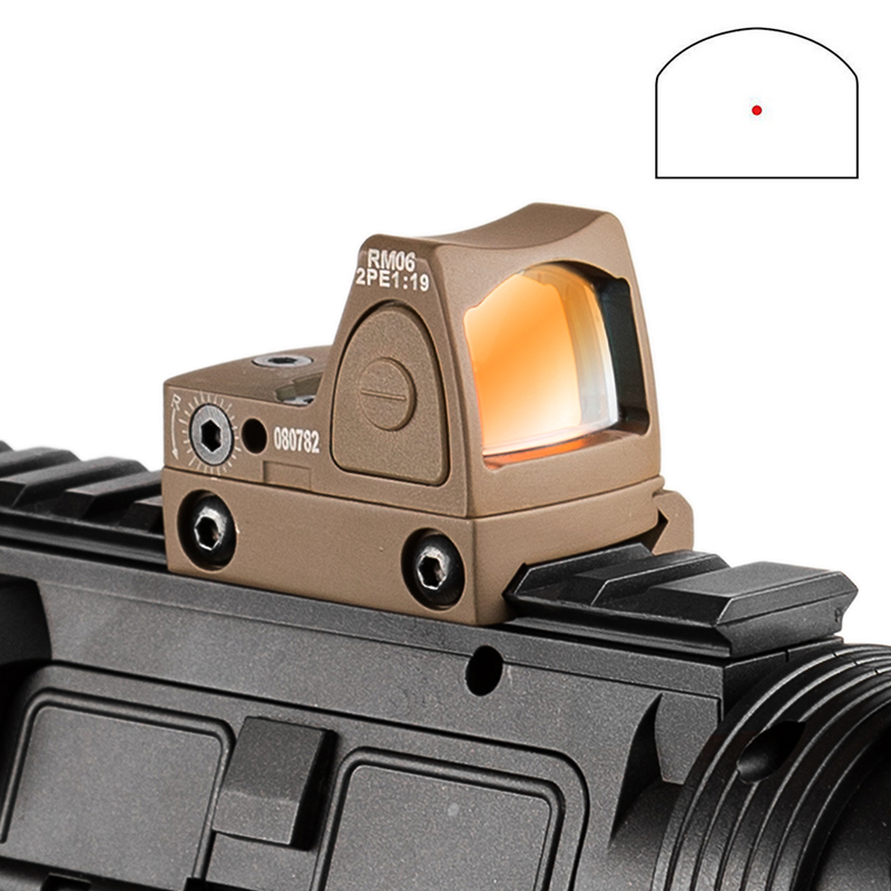 Arrival Rifle Red Dot Tan RMR Dot Sight With Logo Hunting Shooting Tactical Free Shipping Riflescope Scope