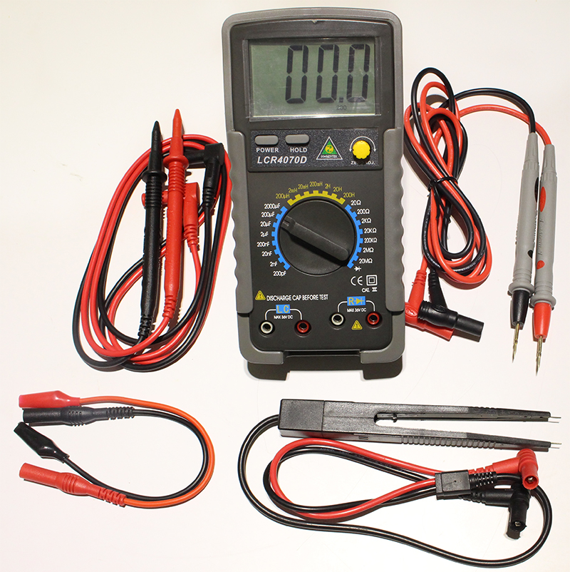 LCR4070D Digital Multimeter Resistance Capacitance Inductance Test LCR Meter lutron lcr 9083 digital lcr meter
