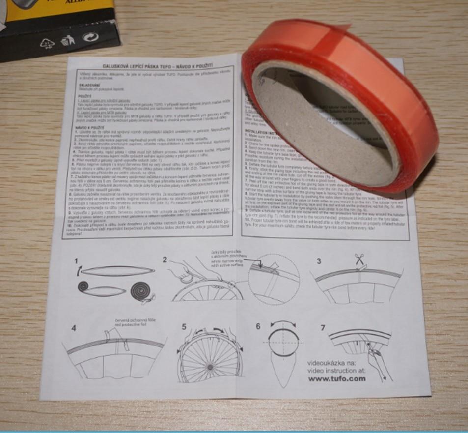 Gluing tape two sided for tubular road tires 19mm TUFO bike
