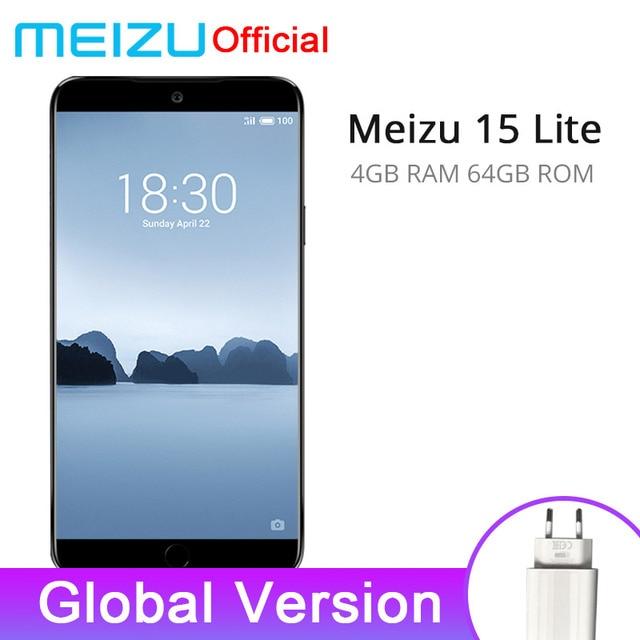 "Global Version Meizu 15 Lite M15 4GB 64GB Mobile Phone Snapdragon 626 Octa Core 5.46"" 1920x1080P Screen Fingerprint ID"