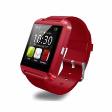 Yuntab new arrival red 1.44 inch touch screen U8 sport  smart watch bluetooth 3.0 silicone wristband for smartphone/Apple phone