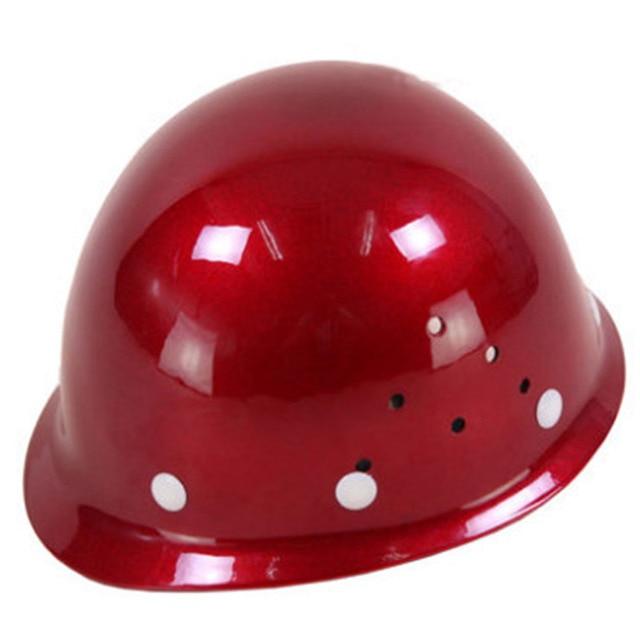 Frp安全ヘルメット建設保護ヘルメット抗スマッシングワークキャップ通気性労働エンジニアリング耐衝撃性ハード帽子