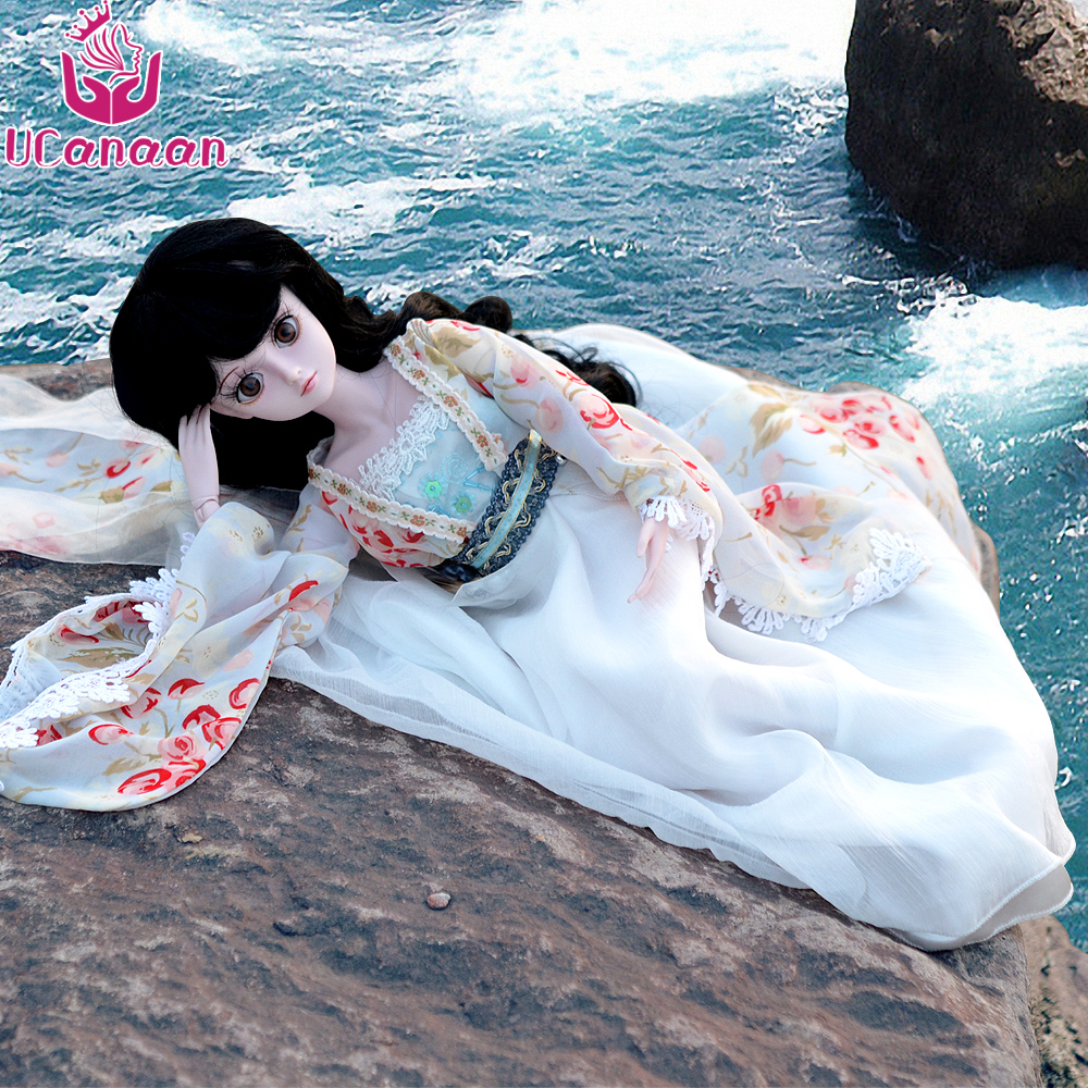 UCanaan 60CM Large Girl BJD Dolls 19 Ball Jointed Doll With Outfit Dress Wig Eyes Makeup Can Be Changed Eyes SD Doll Reborn Toys handmade ancient chinese dolls 1 6 bjd jointed doll empress zhao feiyan dolls girl toys birthday gifts