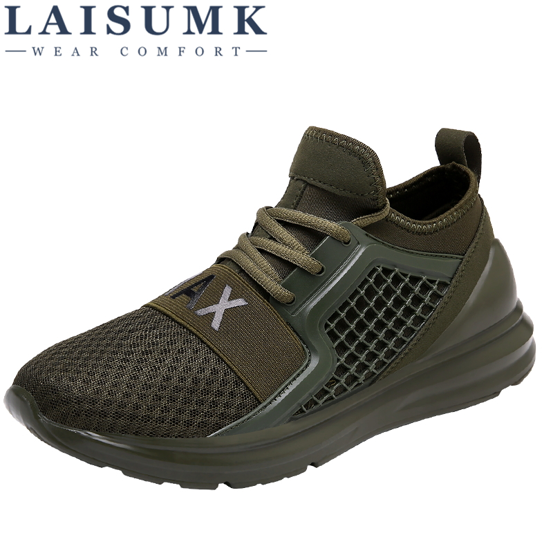 2019 LAISUMK Fashion Casual Shoes Comfortable Man Outdoor Spring/Autumn Sneakers Tenis Masculino