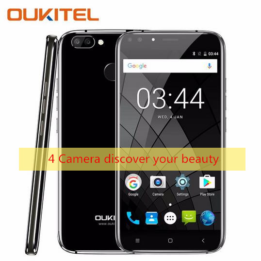 OUKITEL U22 Android 7.0 5.5 inch 4 Cameras Smartphone MTK6580A Quad Core 2GB RAM 16GB ROM with Fingerprint FM Function Phones