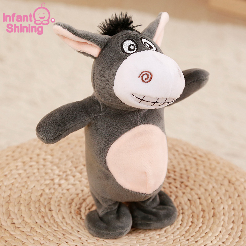 Talking Donkey Plush Toy Electronic Interactive Toys Recording Educational Kids Toy Dancing Walking Electronic Toy Animals Smart