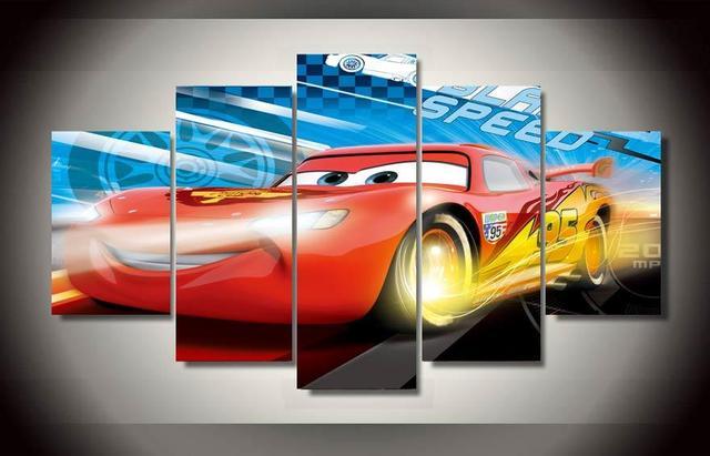 Gerahmte Gedruckt autos mcqueen Malerei kinderzimmer dekor drucken ...