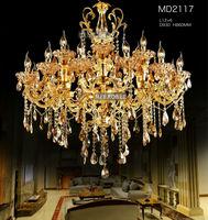 Большой 18 Arms Золотой хрустальная люстра освещения большой кристалл блеск светильник с высшего класса K9 Кристалл MD2117 D930mm H860mm