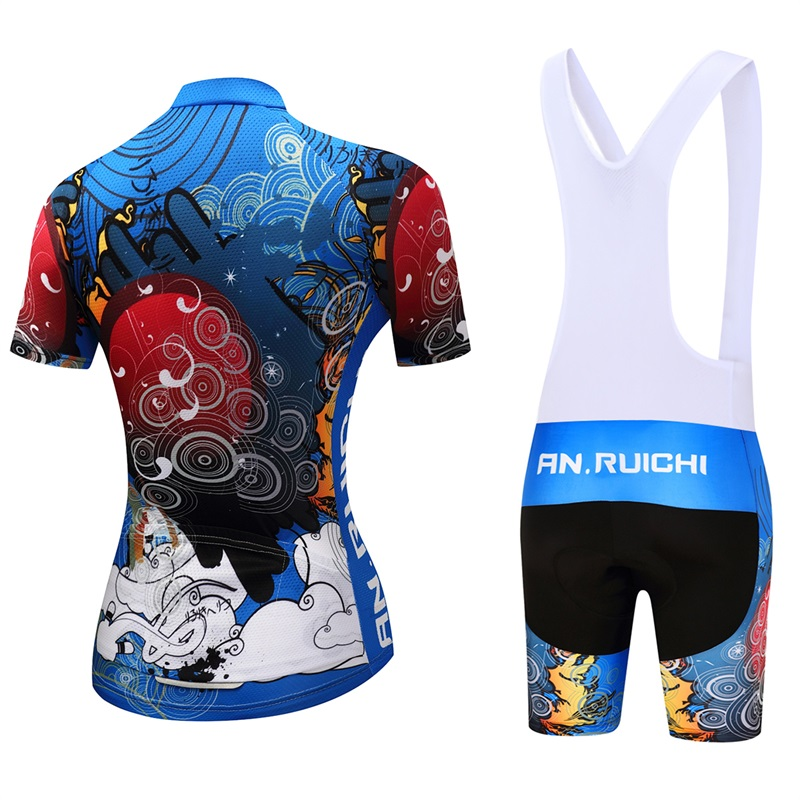 ANRUICHI Summer Women MTB Bike Cycling Clothing Breathable Mountian Bicycle Clothes Ropa Ciclismo Quick-Dry Cycling Jersey Sets