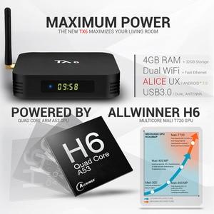 Image 5 - Tanix TX6 חכם אנדרואיד 9.0 טלוויזיה תיבת 4G 32G Allwinner H6 Quad Core 2.4G + 5G כפולה Wifi BT4.1 ממיר 4 K HD H.265 מדיה נגן