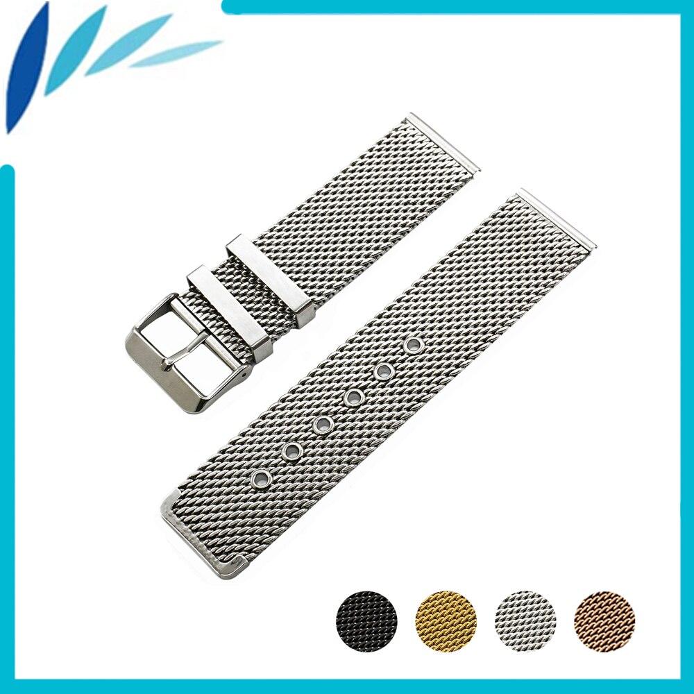 Stainless Steel Watch Band 20mm 22mm for Mido Pin Clasp Strap Wrist Loop Belt Bracelet Black Silver Men Women + Spring Bar