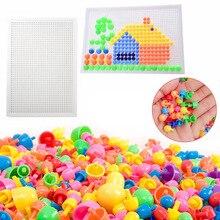 뜨거운 판매 320 Pcs 모자이크 페그 보드 지그 소 퍼즐 버섯 손톱 페그 퍼즐 교육 완구 어린이를위한