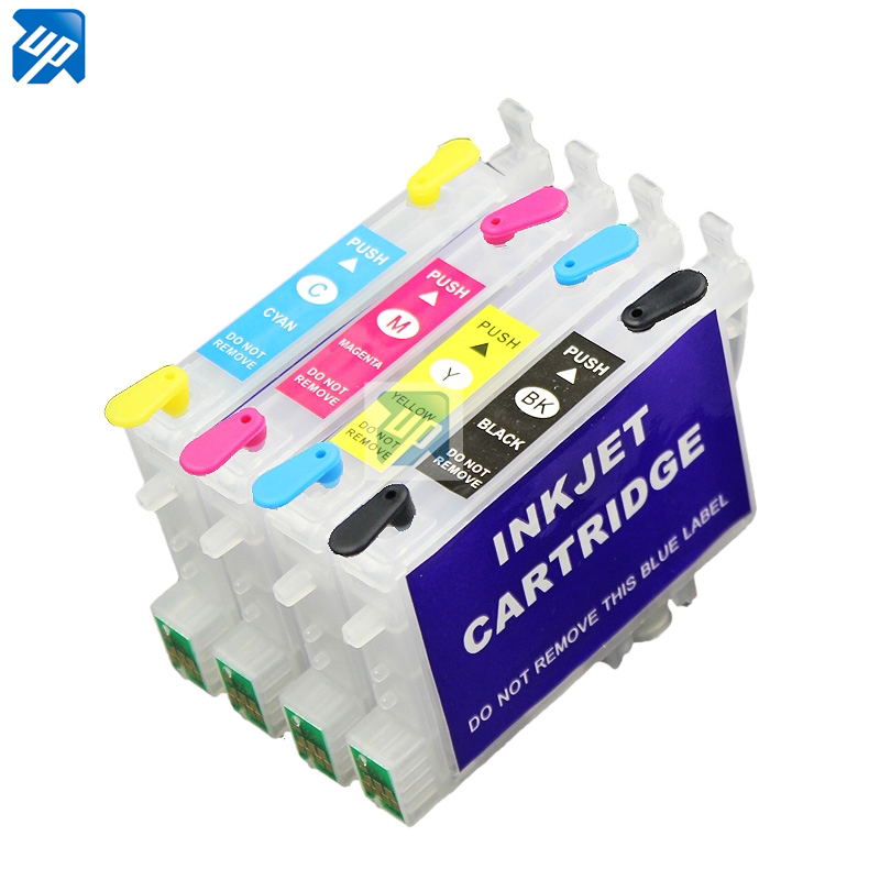 5 комплектов T0611 перезаправляемый картридж для epson D68 D88 DX3800 DX3850 DX4800 DX4850 принтер