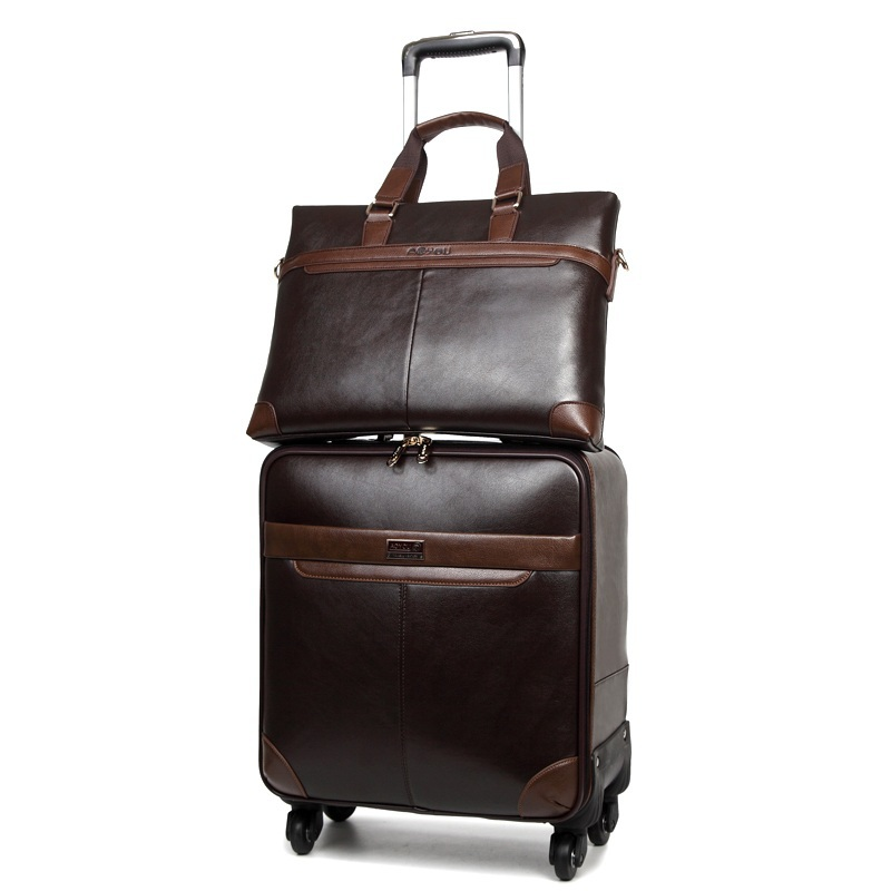 PU Business luggage,Travel bag,Trolley Rod Spinner Suitcase ...