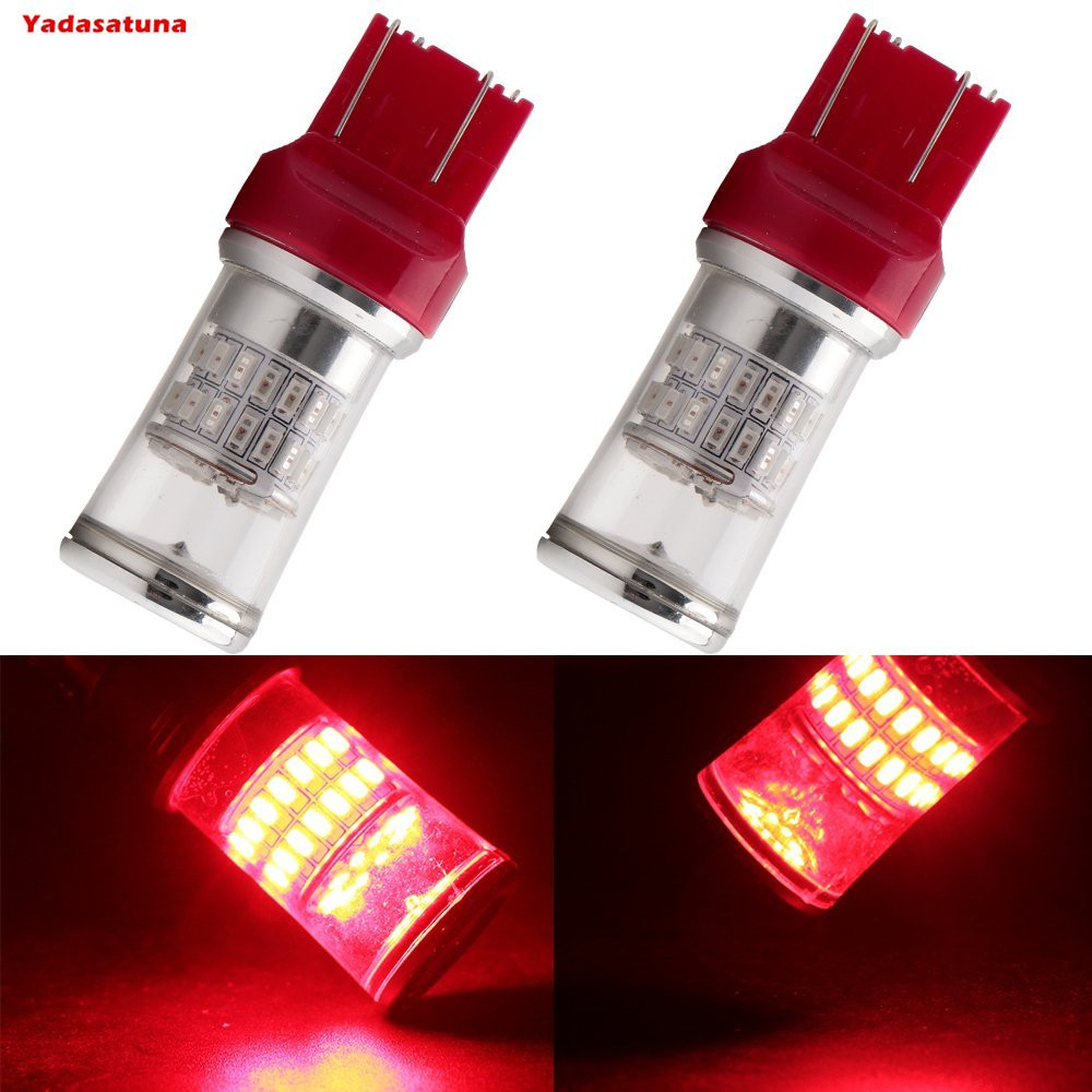 2pcs Red High Power 21W 3014SMD LED 7443 T20 580 7444NA LED Bulbs For Turn Signal Lights,Tail Lights,Brake Lights, Brilliant Red