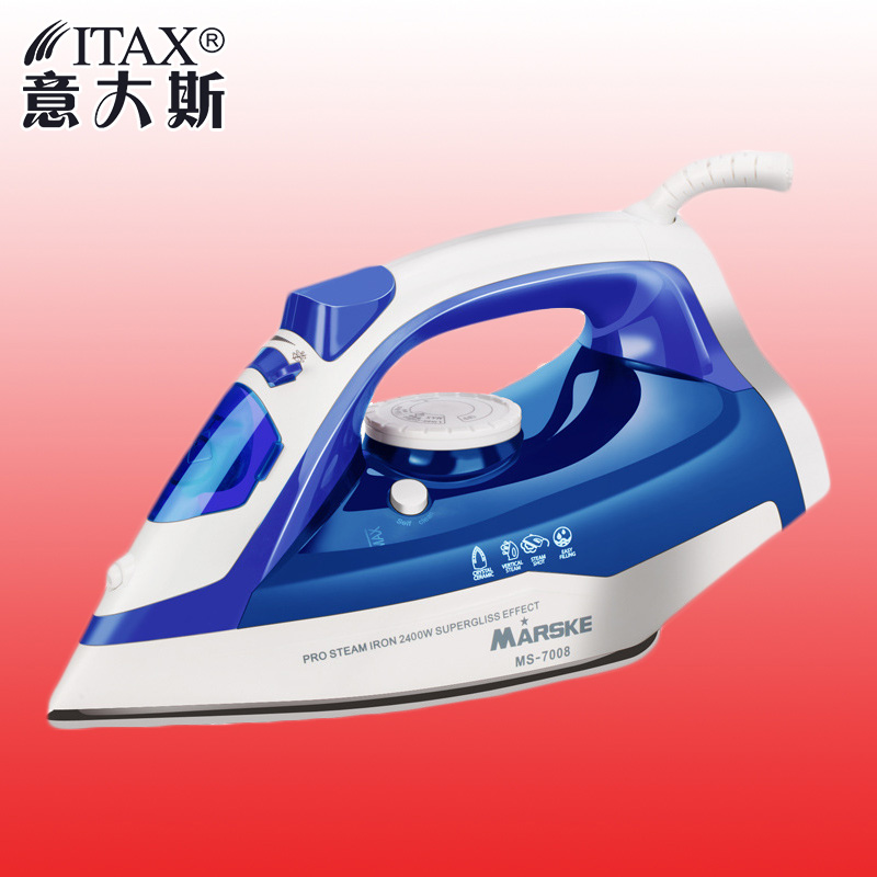 ITAS 1307 Strong domestic garment steam temperature control handheld electric iron ceramic plate portable clothes steamer electric steam iron for clothes handheld steam iron thermostat prevent calcium deposition steamer ceramic base plate