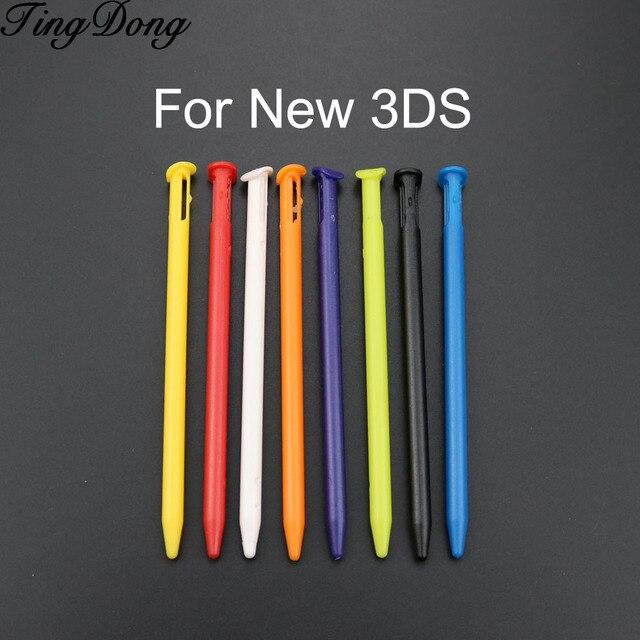 TingDong 200 pièces/lot multi couleur plastique écran tactile stylet pour nouveau Nintendo NEW 3DS