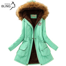 Parkas Women Coats Fashion Autumn Warm Winter font b Jackets b font Women Fur Collar Long