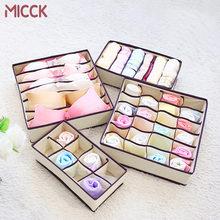 MICCK 4 sztuk włókniny bielizna organizator schowek składane krawaty skarpetki biustonosz szuflady szafa organizator Separator pojemnik do przechowywania