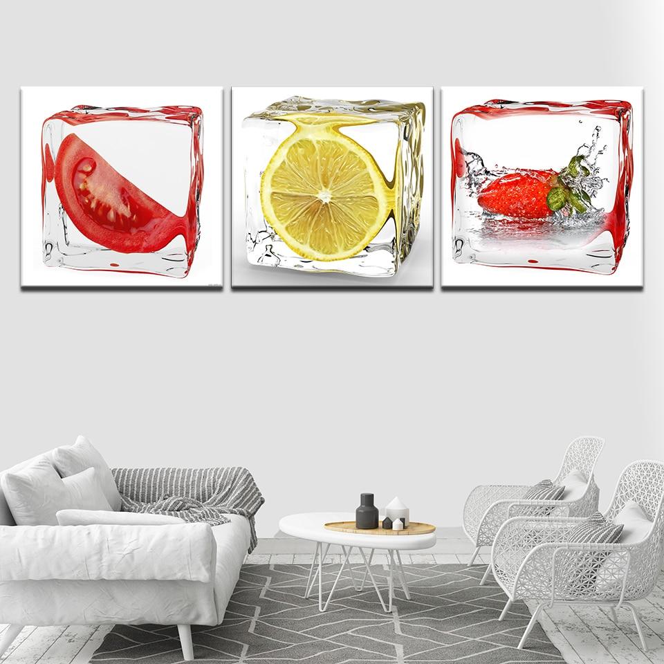 Canvas HD Prints Poster Restaurant Decor Kitchen 3 Pieces