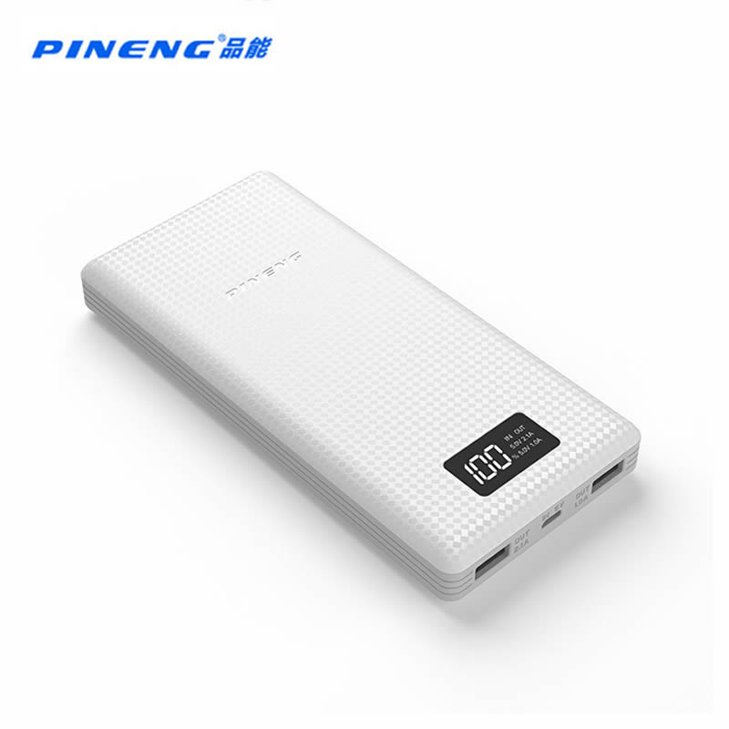 bilder für PINENG Energienbank 20000 mAh PN-969 Externen Akku Power mit Led-anzeige Dual USB Ausgang für ipfone6s Samsung S7 Xiaomi