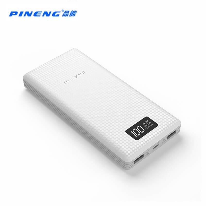 imágenes para PN-969 PINENG Banco de la Energía 20000 mAh Paquete Externo de La Batería de Alimentación con Indicador LED Dual USB Salida para ipfone6s Samsung S7 Xiaomi