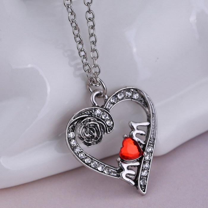 Fashion Vintage Silver jewelry Charms Necklace Mom gift, Mother's ...
