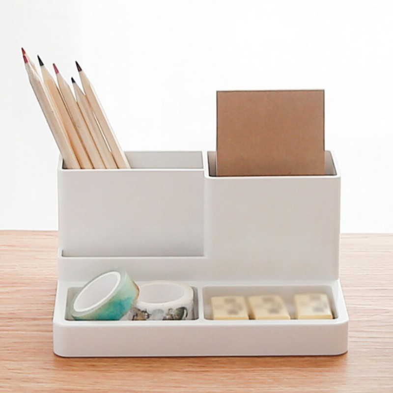 5 Grids Multi-function Desktop Office Storage Box Stationery Pen Storage Box