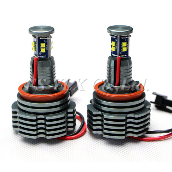 ФОТО 4sets 80W High Power Error Free  H8 E92 LED Angel Eyes Bulb For BMW X5 E70 X6 E71 E90 E91 E92 M3 E60 LED Angel Eye Bulb