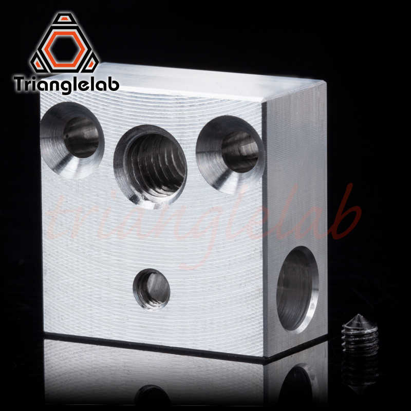 Trianglelab kualitas tinggi Swiss CR10 blok CR10 Blok Dipanaskan untuk Swiss CR10 hotend mk8 blok mk9 blok Cetak Kepala Extruder J-kepala