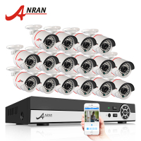 Latest ANRAN 16CH 1080N HDMI DVR Outdoor Surveillance System Video Recorder AHD 720P 1800TVL IR Home