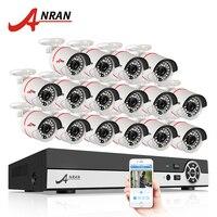 Latest ANRAN 16CH 1080N HDMI DVR Outdoor Surveillance System Video Recorder AHD 720P 1800TVL IR Home
