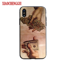 Money And Weed Art Phone Case Skin Shell For iPhone