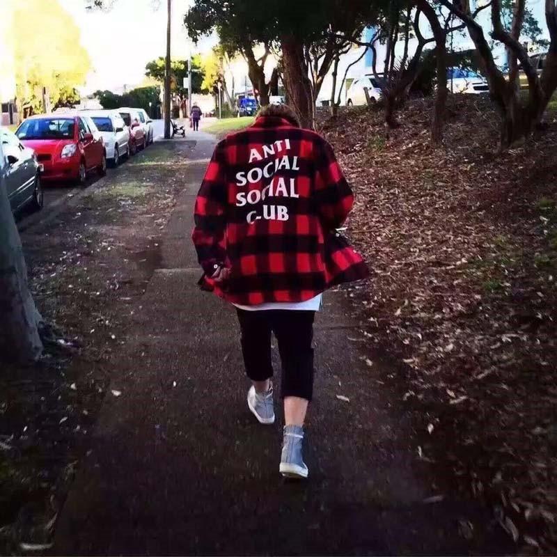 Anti-Social-Social-Club-Plaid-Shirt-Men-WomenHip-Hop-Casual-Turn-down-Collar-Shirts-Men-Sportswear