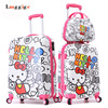 20 24 Inch HELLO KITTY Carry Ons Multicolored Luggage Set ABS KT Trolley Suitcase Nniversal Wheels