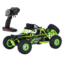 WLtoys RC Car 1/12 4WD Rock Crawlers 4×4 Bigfoot Double Motors Off-Road vehicle use AA battery With LED Light RTR 2.4GHz