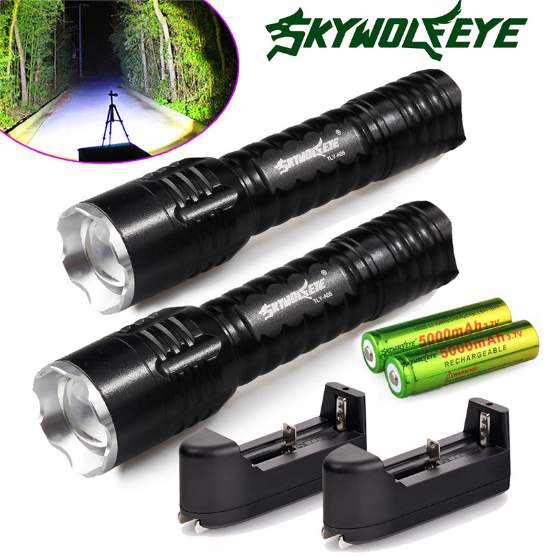 2x6000Lumen Rechargeable Tactical Q5 LED Flashlight +18650 Battery&C Outdoor Sports Bike Cycling Bicycle Accessories May 30