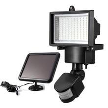 100 LED Solar Light Outdoor Sensor Security Garden PIR Motion Emergency Lamp Path Wall Lamps