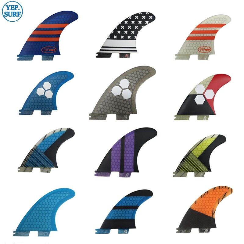 Surf FCSII Fins Tri Fin Set G3/G5/G7/K2.1 Fibreglass Honeycomb Carbon Free Shipping