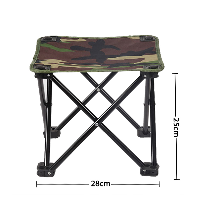 Sports & Entertainment Outdoor Camouflage Folding Chair Foldable Portable Camping Chairs Portable Hiking Oxford Stool Fishing Seat Sale Fishing