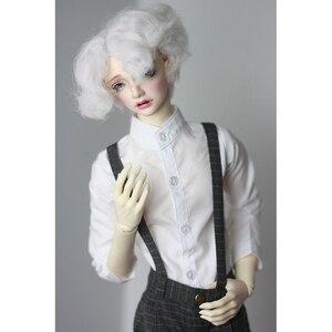 """Image 3 - BJD Puppe Weißes Hemd Outfits Top Kleidung Für Männliche 1/4 1/3 SD17 70 cm 17 """"24"""" Hoch BJD puppe MSD SD DK DZ AOD DD Puppe verwenden HEDUOEP"""