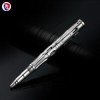 Nieuwe Outdoor Titanium legering Zelfverdediging survival Veiligheid Tactische Pen Potlood Met Schrijven Multi functionele Tungsten Stalen Kop-in Outdoorgereedschap van sport & Entertainment op