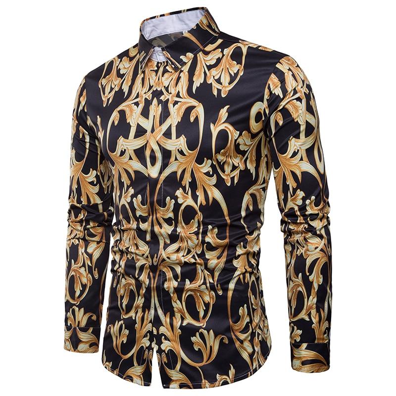 Luxury Long Sleeve Mens Dress Shirt Slim Fit Chemise Homme Fashion Brand Design Shirt Me ...