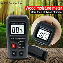 GHIXACTO Two Pins Digital Wood Moisture Meter EMT01 Wood Humidity Tester 0-99.9% Timber Damp Detector with Large LCD Display стоимость