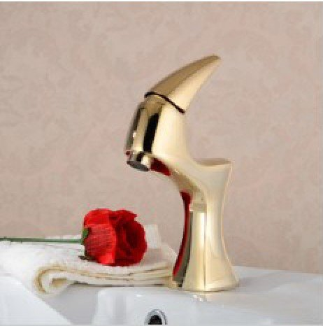 Free shipping!2013 new stlye.luxury basin gold colour taps. deck-mounted single hole bathroom sink faucet.1pcs/lotFree shipping!2013 new stlye.luxury basin gold colour taps. deck-mounted single hole bathroom sink faucet.1pcs/lot