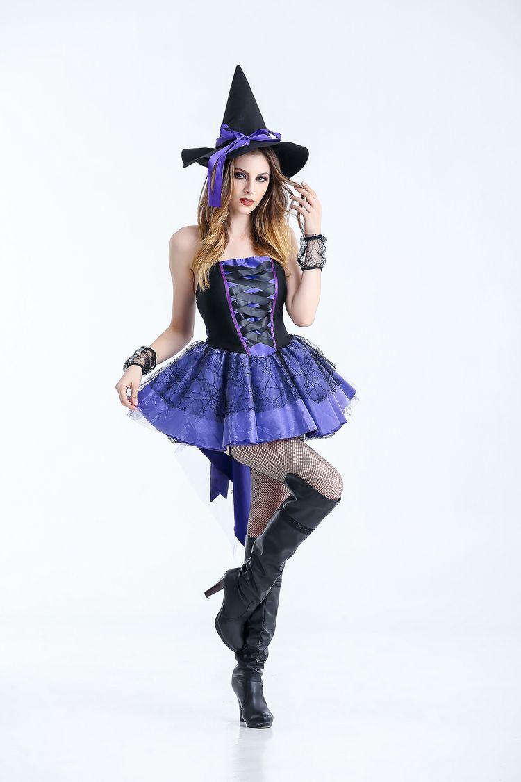Хэллоуин ведьмы смокинг Платье черного цвета для взрослых женские пикантные Косплэй костюм модная женская одежда scarey Fantasia Infantil платье