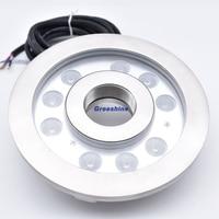 27 Вт светодио дный фонтан кольца света погружной Цвет изменение IP68 подводный светодио дный света RGB RGBW Пруд лампы DMX 24 В 4 шт./лот