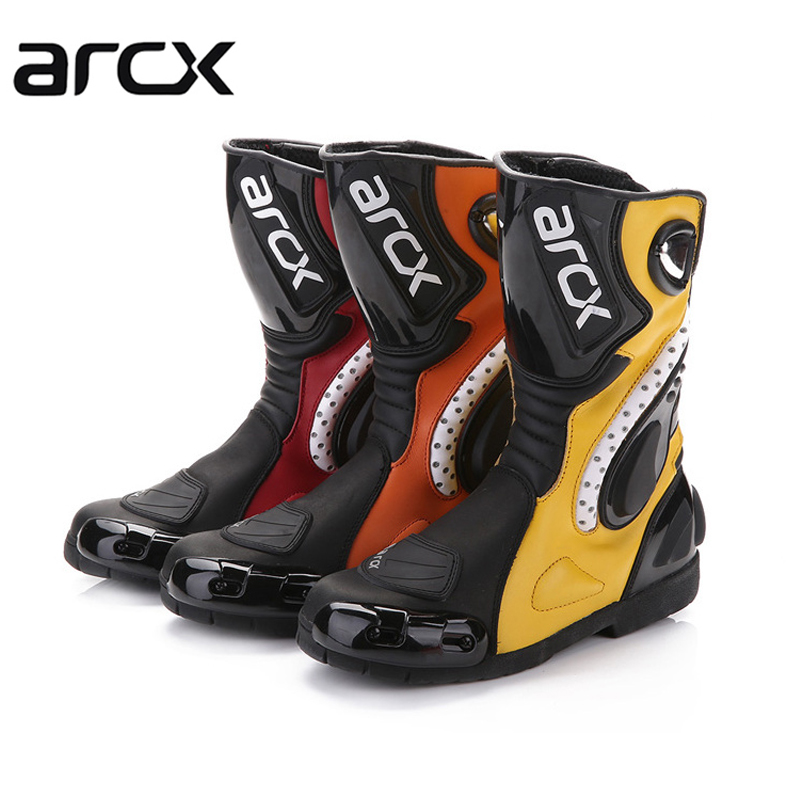 ARCX Motorcycle SPEED Racing Long Boots Motocross riders leather boots motorbike drop re ...