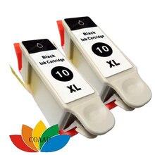 2x совместимые с черным чернильным картриджем kodak 10 для принтера