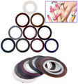 FT-108 New Arrival! Profession 34 Pcs different Colors Rolls Striping Tape Line DIY Nail Art Tips Decoration Sticker Nail Care